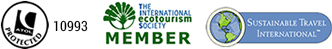 ATOL Protected 10306 plus International Eco Tourism Society and Sustainable Travel International Member